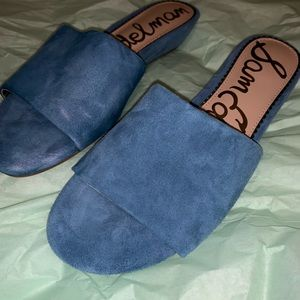 Suede open toed Mules